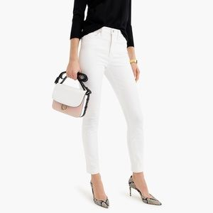 """NWT J. Crew 9"""" High Rise Toothpick White Jeans"""